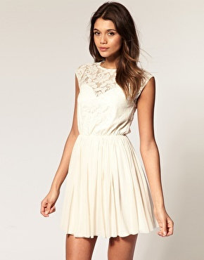 White Lace Dress on Asos  Dress  Lace  White   Inspiring Picture On Favim Com