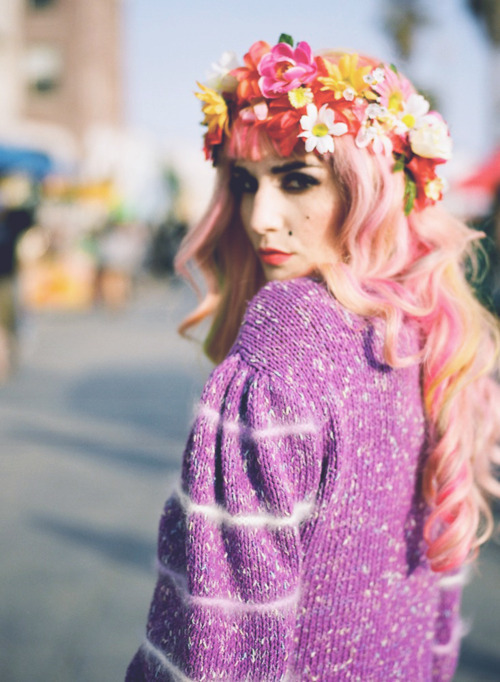 audrey kitching, beautiful, fashion, flowers, girl
