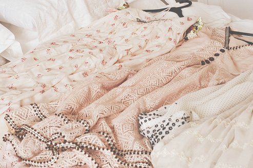 awesome, beautiful, bed, clothes, cute, dress, fashion, floral, gorgeous, pastel, pink, stuff, vintage, white