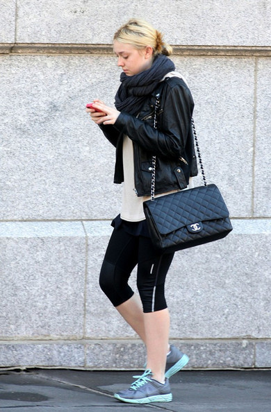 bag, beauty, chanel, dakota fanning, fashion