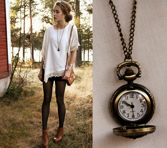 bag, black, boots, brown, clock, clothing, cute, fashion, girl, look, lookbook, loose top, model, necklace, petra, photo, photography, pretty, pullover, qesenq, sexy, shoes, stockings, style, tights, vintage, watch, white, winter, woods
