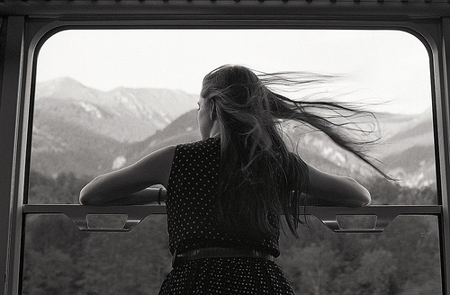 beautiful, black and white, cute, dress, girl, hair, long hair, memories, old, photo, photography, pretty, traveling, wow