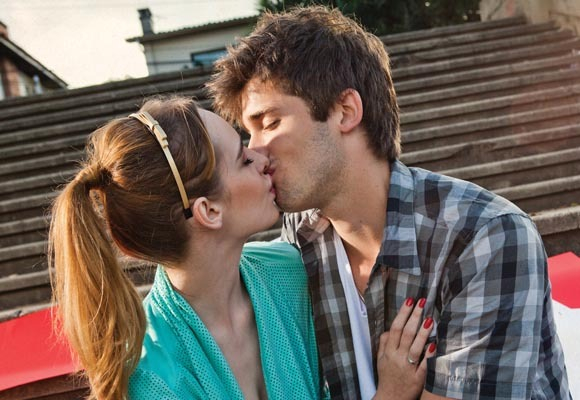 beijo, couple, cute, kiss, love, romantic