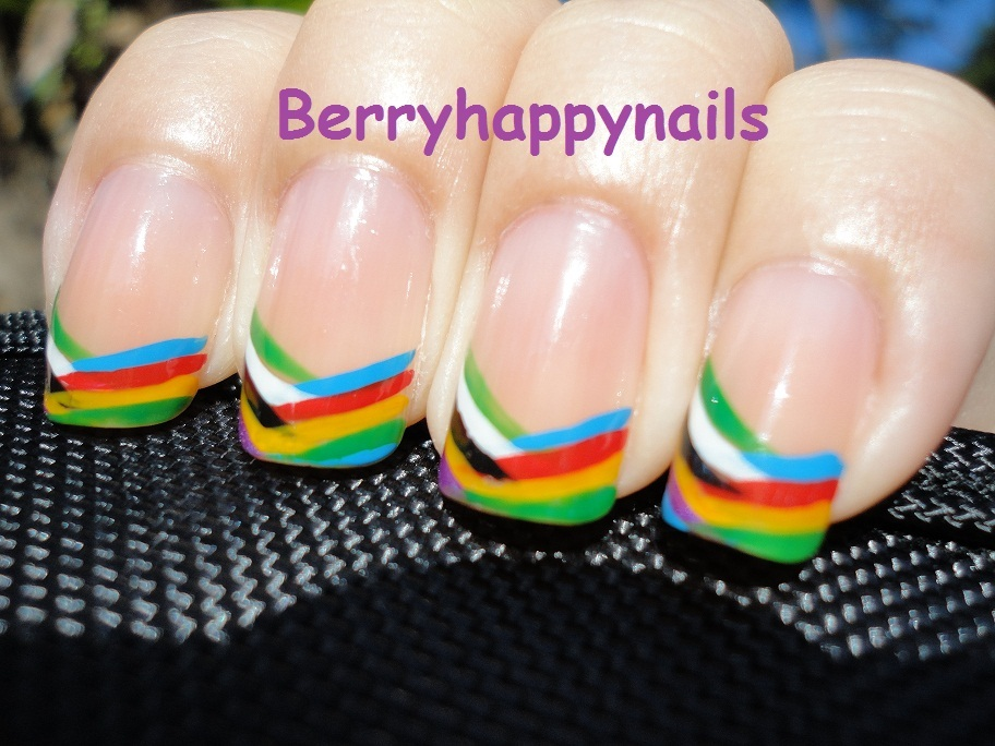 berryhappynails, cute, cutesy, french, happy