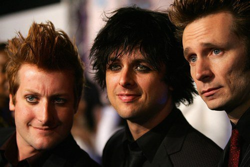 billie joe armstrong, green day, mike dirnt, tre cool