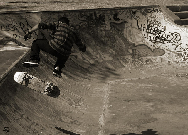 black and white, boy, cool, sepia, skate