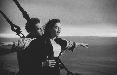 black and white, cute, leonardo dicaprio, titanic