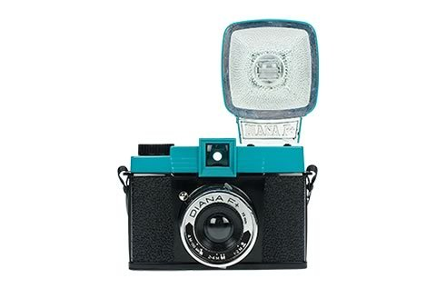 black, blue, camera, diana, lomography