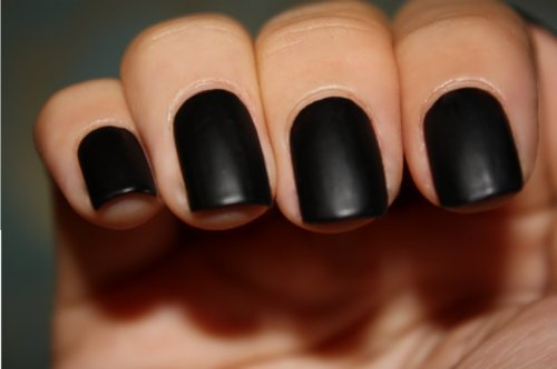 black, cool, fashion, makeup, manicure, nails, photo, pretty