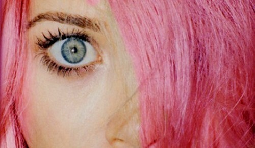 blue eyes, eyes, girl, pink hair