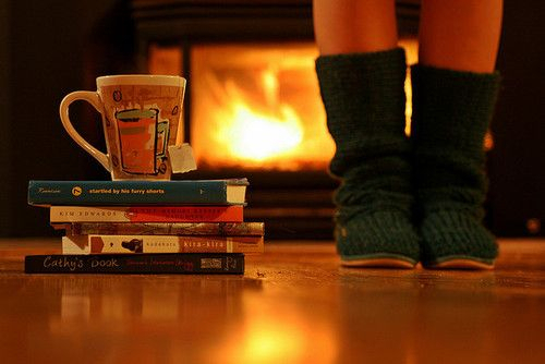 books, boots, bundle, coffee, cold