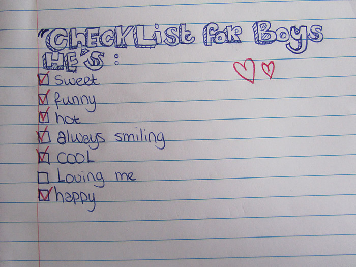 boy, boys, checklist, cute, funny