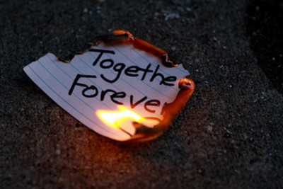 broken heart, burn, fire, forever, paper, text, together, words