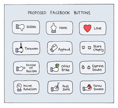 buttons, facebook, funny