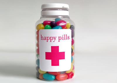 candies, happy pills, jelly beans