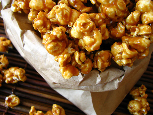 candy, caramel, eat, food, popcorn