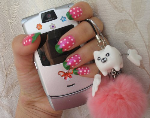 cell phone, cute, delicious, fashion, fruit