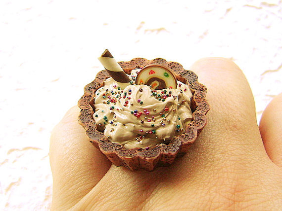 chocolate, ice cream, jewellery, jewelry, ring