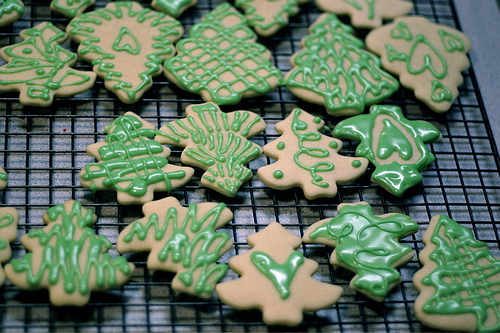 christmas, christmas cookies, christmas tree, cookies, cute, dessert, food, green, photography, sugar cookies, trees
