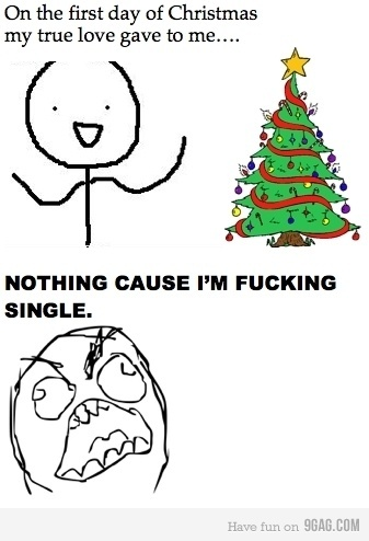 christmas, funny, lol, love, meme, single