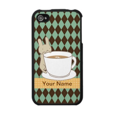 coffee, cute, iphone, iphone case, rabbit, tea time