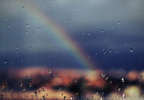 Colors Justin Bieber Rain Rainbow Window Image