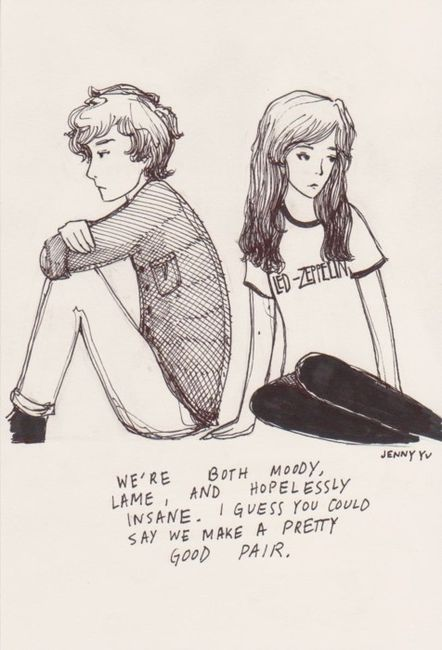 couple cute drawing insane lame image 245740 on