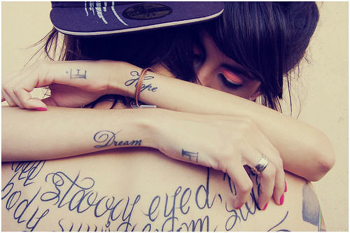 cuple, dream, hope, hug, tatoo