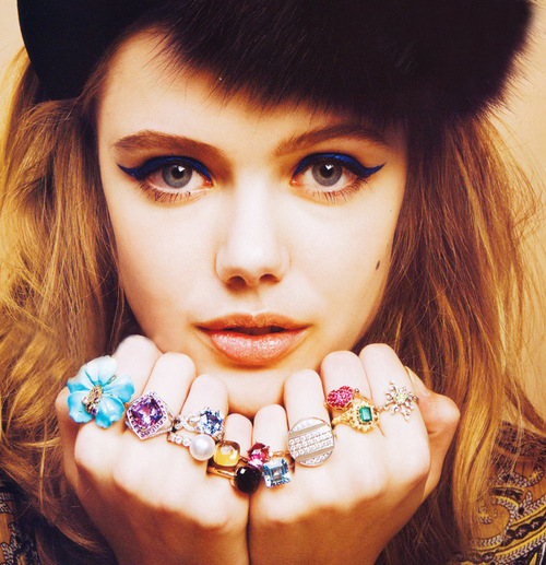cute, fashion, frida gustavsson, girl, jewellery, love, makeup, model, rings