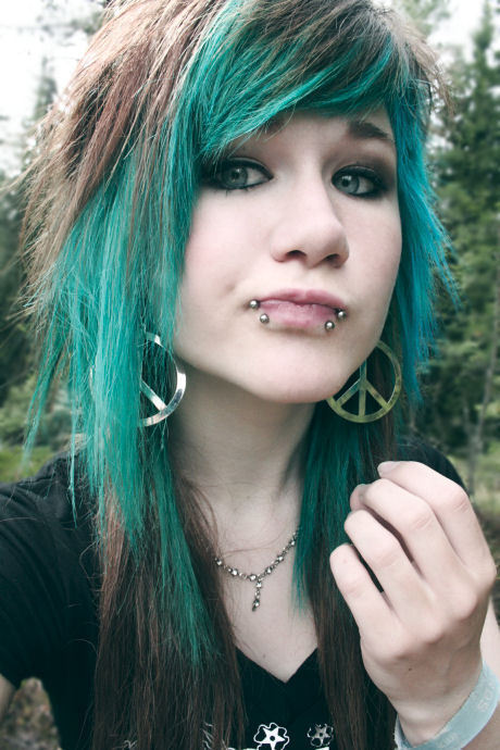 cute, girls , green hair, make up, photography