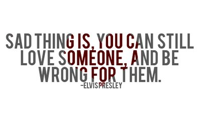 elvis presley, in love, sad thing is, wrong for them