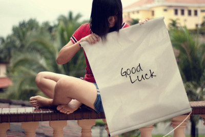 girl, good luck, text
