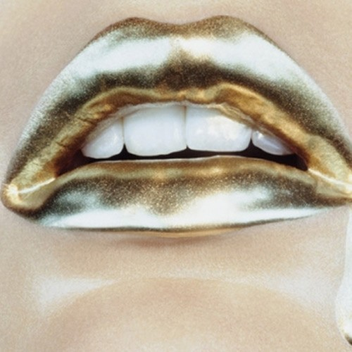 Gold Lips Lipstick Metallic Mouth Image 246397 On