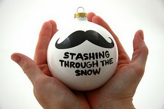 amazing, bauble, christmas, mustache, snow