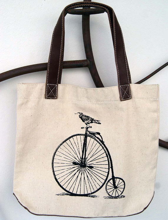 animal, bag, bicycle, bird, boy, canvas, canvas tote, christmas, christmas gift, crow, fashion, gift, gift ideas, girl, gothic, handbag, hipster, punk, screen print, screen printed, screenprint, screenprinted, tote, tote bag, winter