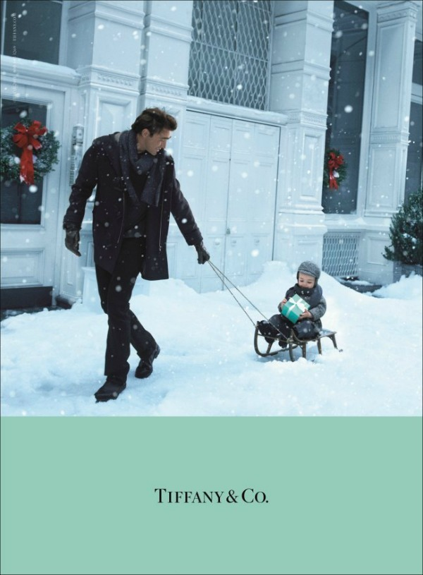 baby, christmas, cute, dad, happy, snow, tiffany