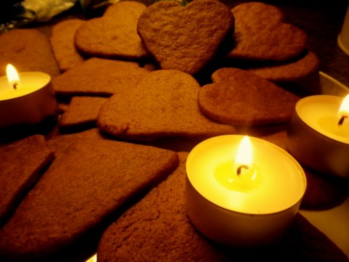 bake, candels, christmas, cozy, gingerbread