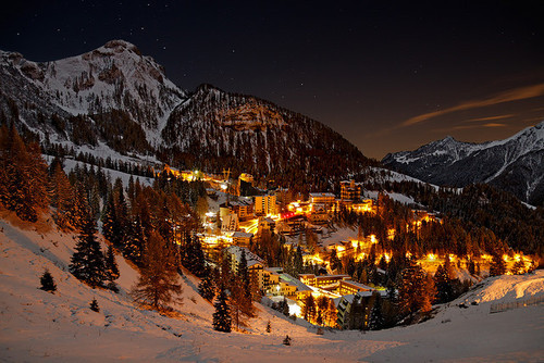 beautiful, chirstmas, christmas, home, house, lights, mountains, nature, snow, winter