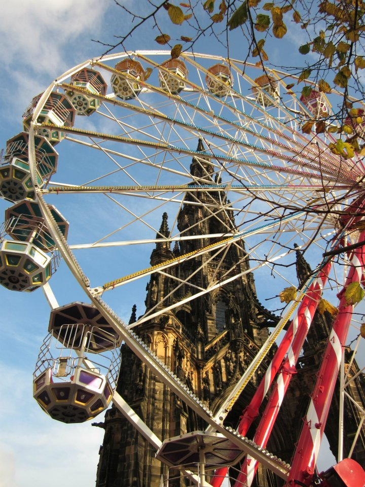 beautiful, christmas, edinburgh, ferris wheel