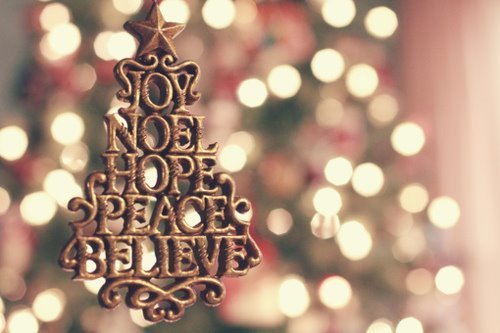 believe, christmas, hope, joy, love