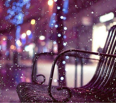 bench, christmas, snow, snowfall, snowflakes