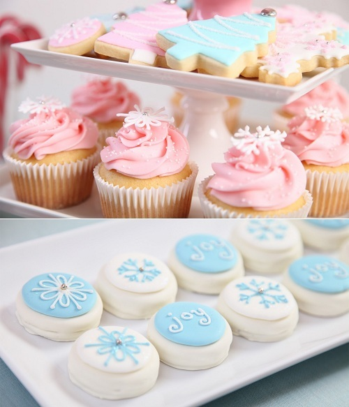 blue, christmas, cookie, cupcake, food