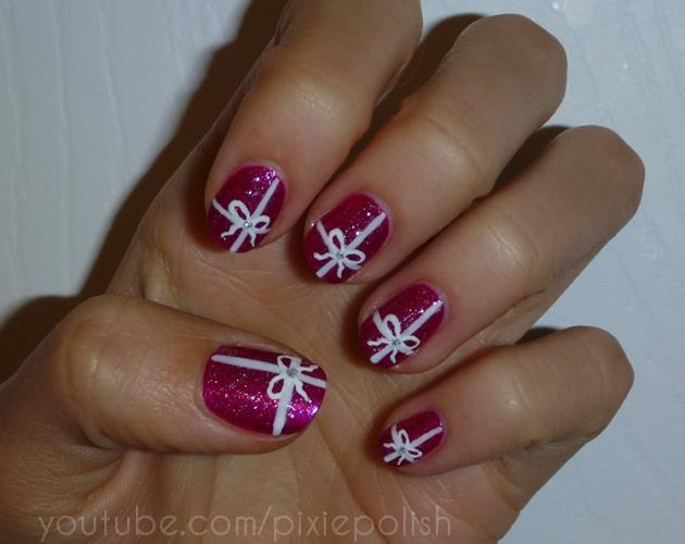 bow, christmas, cute and glitter