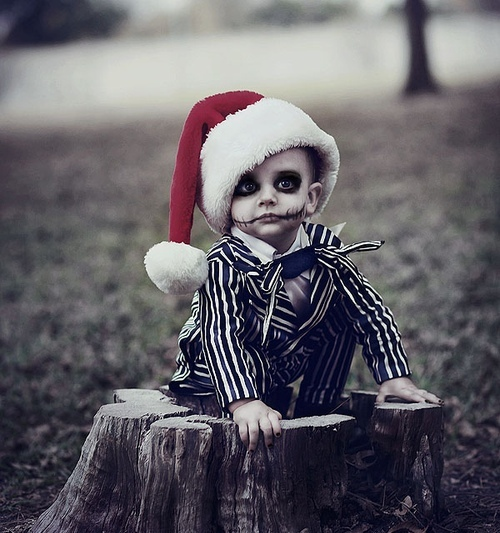 boy, cute, dark, kid, merry christmas, santa claus, tim burton, xmas