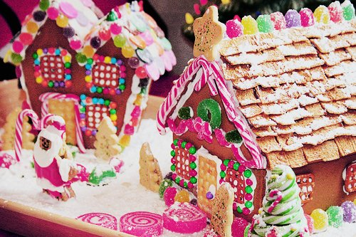 bread, candy, christmas, cookies, ginger bread house