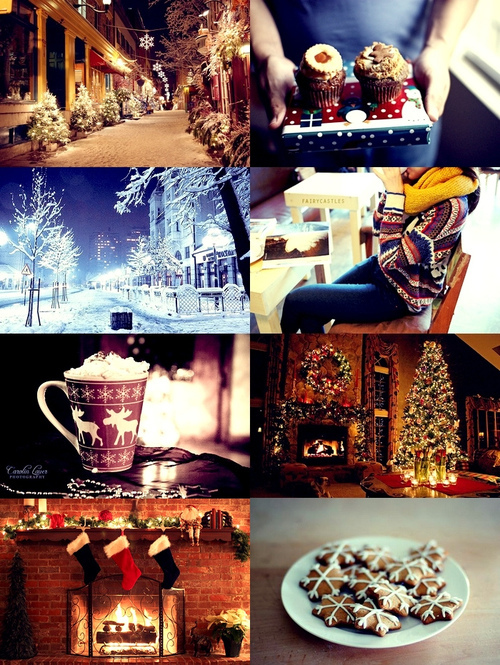 christmas, christmas tree, cookie, cookies, cupcake, cupcakes, girl, happines, new year, street, tree, white, winter, yummie