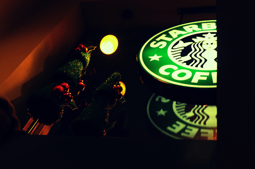 christmas, coffe, starbucks