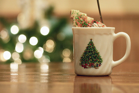 christmas, cookie, cup