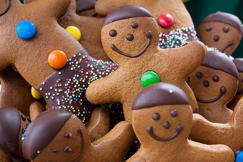 christmas, cookies, cute, gingerbread, smile