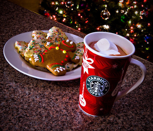 christmas, cute, fashion, food, pretty, red, starbucks, yummy